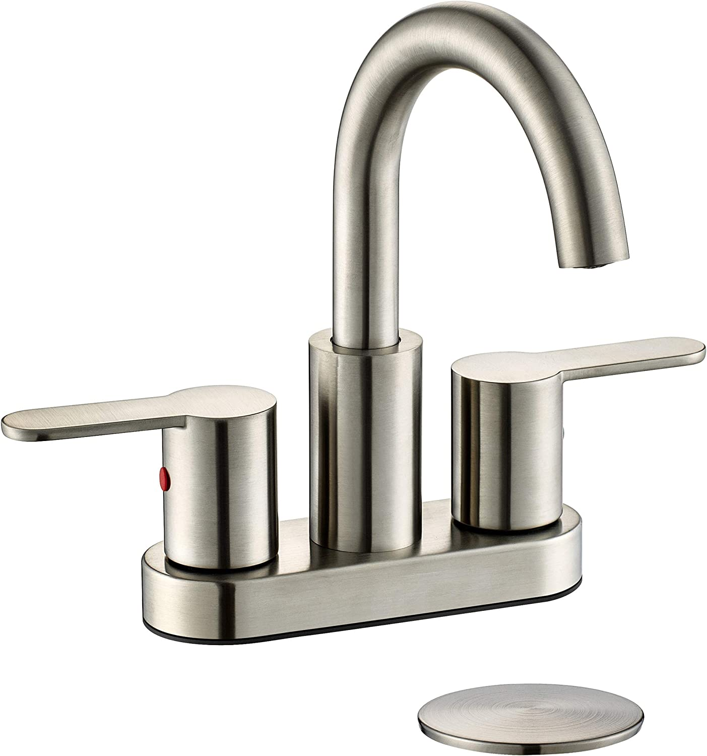 TimeArrow 2 Handle Atlanta Mall Centerset Bathroom Sink Faucet Nickel Brushed Clearance SALE! Limited time!