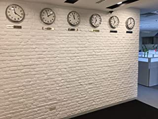 Faux Brick Wall Panels, 3D FRP Wall Panel Resin Fiberglass Material for House Extrior and Interior Wall Use (Matt White, Church)