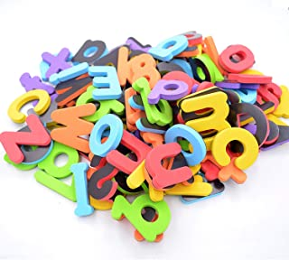 EVA Foam Letters and Numbers for Educating Kids, Educational Alphabet Refrigerator Magnets, 114pcs/a Set with Plastic Jar