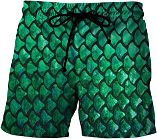 Men'S Exercise & Fitness Apparel Quick-Drying Beach Shorts 3D Printed Casual