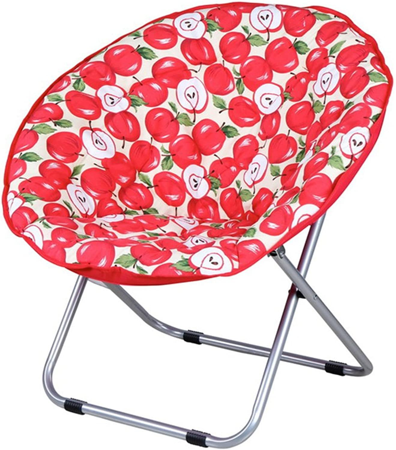 Red Foldable Padded Floor Chair Simple Casual Lazy Lounge Sofa Moon Chair (Size   Not Washable)
