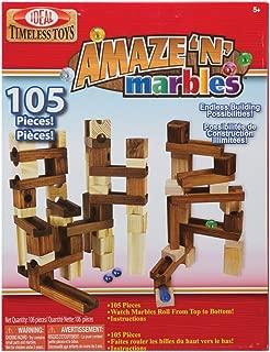 Ideal Amaze 'N' Marbles 105 Piece Classic Wood Construction Set