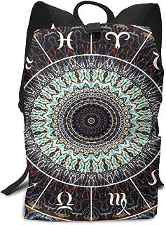 Backpack India Mandala Constellation Casual Laptop Daypack School Student Book Bag for Women Men