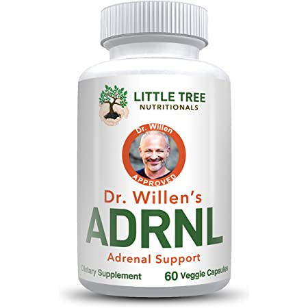 Advanced Powerful Adrenal Support Supplement – Dr. Willen's Adrenal Gland Health, Improve Cortisol Levels, Fatigue, Stress and Exhaustion – 60 Non GMO Easy to Swallow Capsules