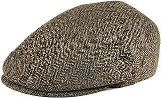Men's Herringbone Flat Ivy Newsboy Hat Wool Blend Gatsby Cabbie Cap