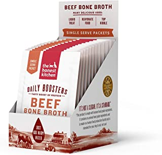 Honest Kitchen The Daily Boosts: Instant Beef Bone Broth with Turmeric, 12-Pack of 3.5g Sachets