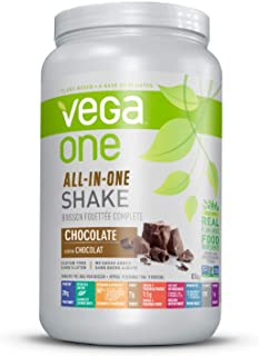 Vega One All-In-One Nutritional Shake Chocolate (19 Servings) - Plant Based Vegan Protein Powder, Non Dairy, Gluten Free, ...