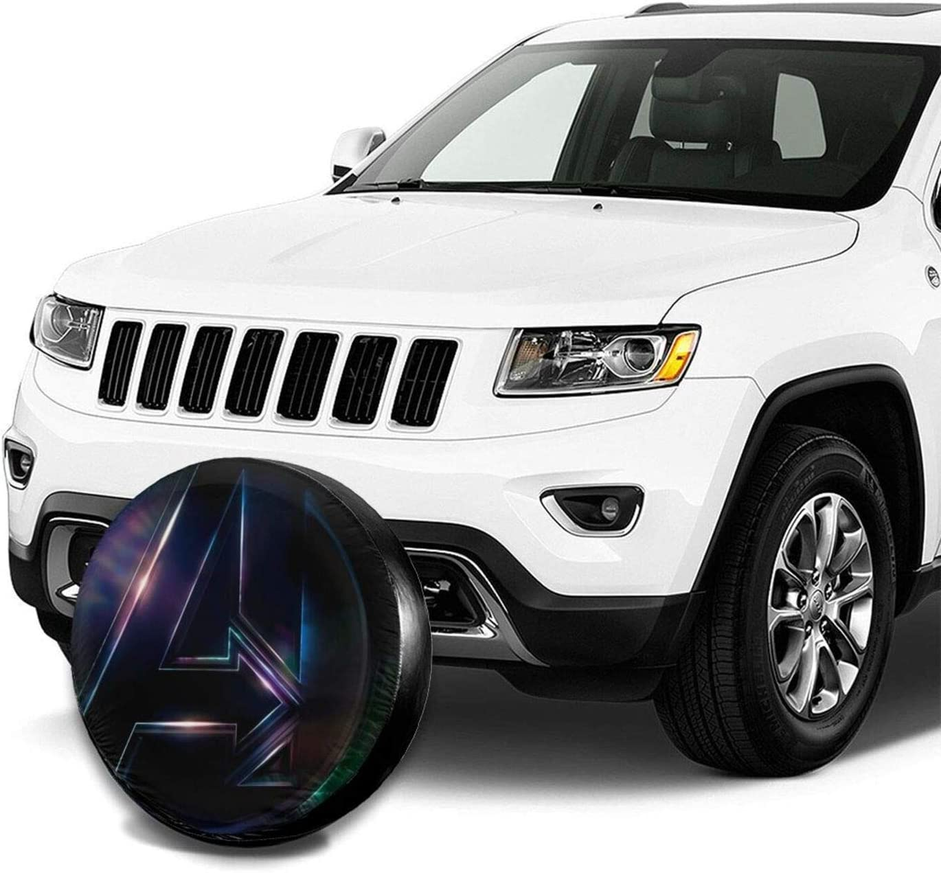 JINDAO Av-en-ger Logo Spare Tire Covers dust-Proof Waterproof Sun Protection Protecto Sun Rain Snow for Truck//SUV//Trailer//Camper//RV Tire Covers 14 inch