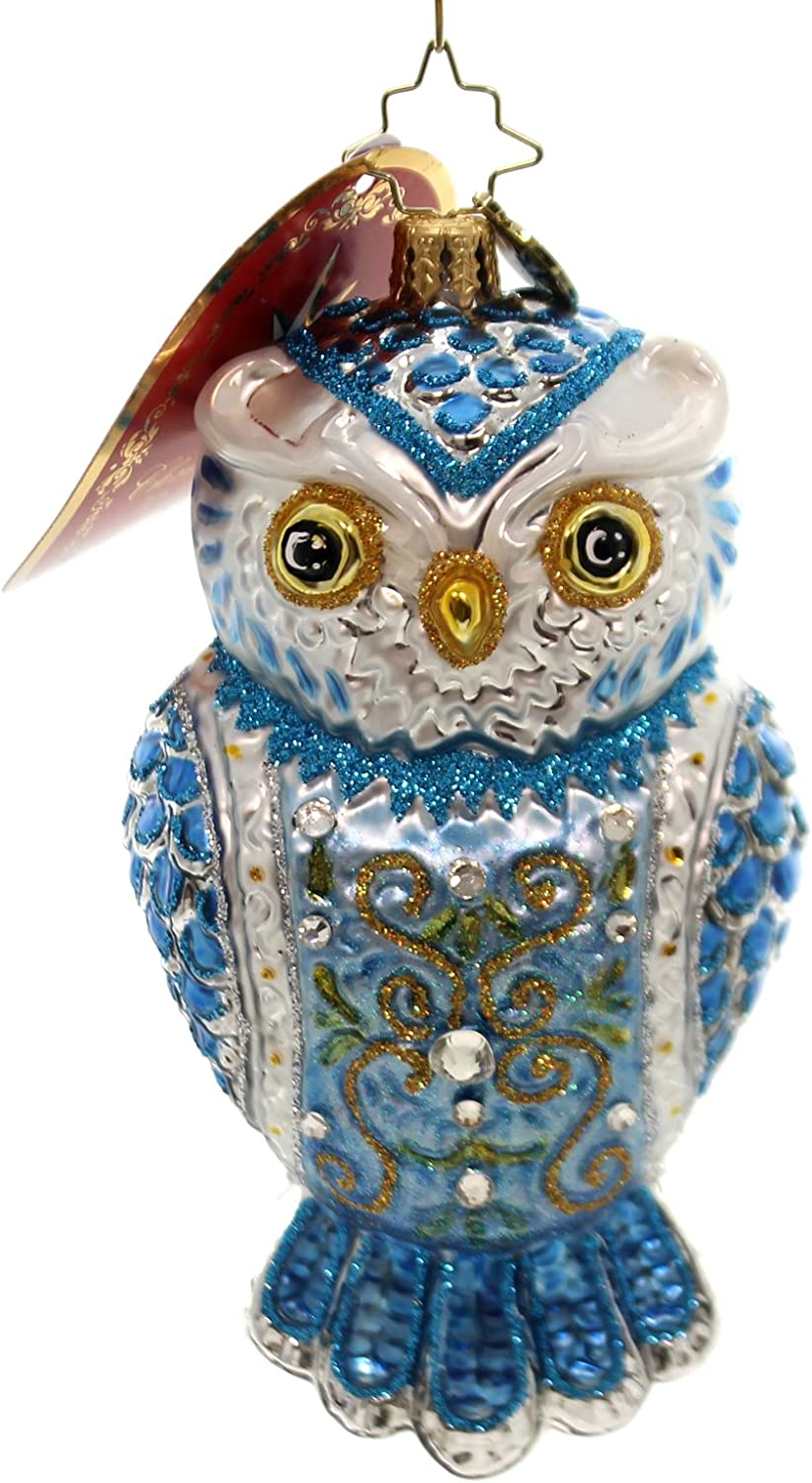 Christopher Radko Owl See You in Winter Christmas Ornament