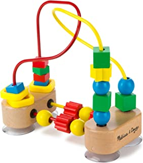 Melissa & Doug First Bead Maze (Wooden Educational Toy, Great Gift for Girls and Boys - Best for Babies and Toddlers, 12 Month Olds, 1 and 2 Year Olds)
