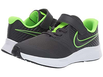 Nike Kids Star Runner 2 (Little Kid) (Grey/Volt) Kids Shoes