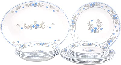 Arcopal Dinnerware Set, White, Porcelain – 19 pieces'