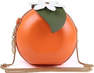SUKUTU Fruit Orange Shaped Girl Purses PU Leather Crossbody Bag for women