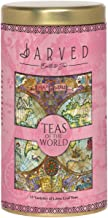 Jarved Teas of the World Gift Set-15 Loose Leaf Teas from 10+ countries | Premium Tin Box