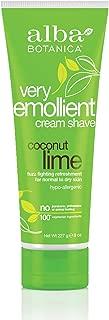 Alba Botanica Very Emollient Coconut Lime Shave Cream, 8 oz.