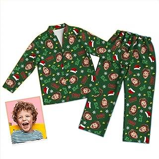 Conjunto de pijama personalizado con foto de cara personalizada Conjuntos de pijamas familiares de Navidad a juego, Conjunto de pijama de cara con foto personalizada con cara divertida personalizada