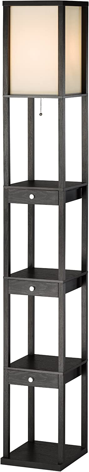 Adesso 3450-01 Murray Three Inventory cleanup selling sale Drawer Shelf 150W 72 in Limited price Incan Lamp
