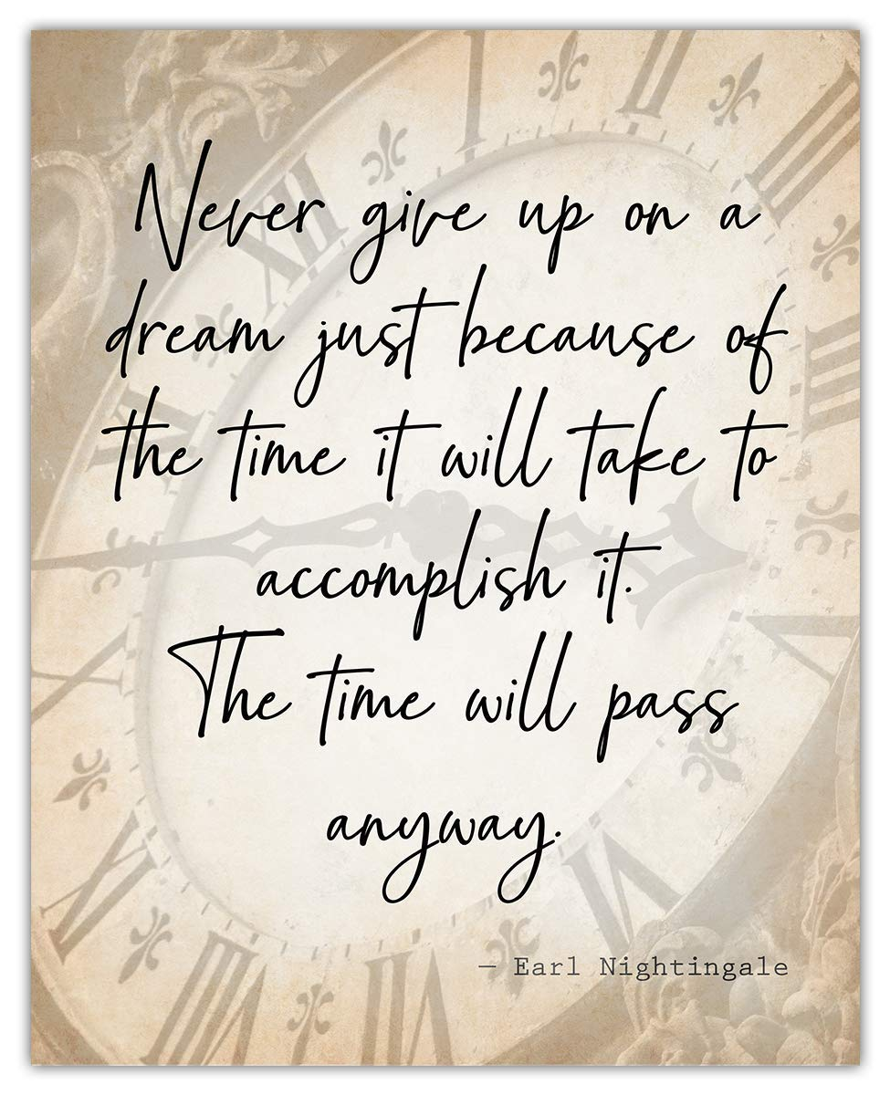 Never Give Up On Jacksonville Mall Time sale A Dream… Unique Poster: Inspirational Wall Art