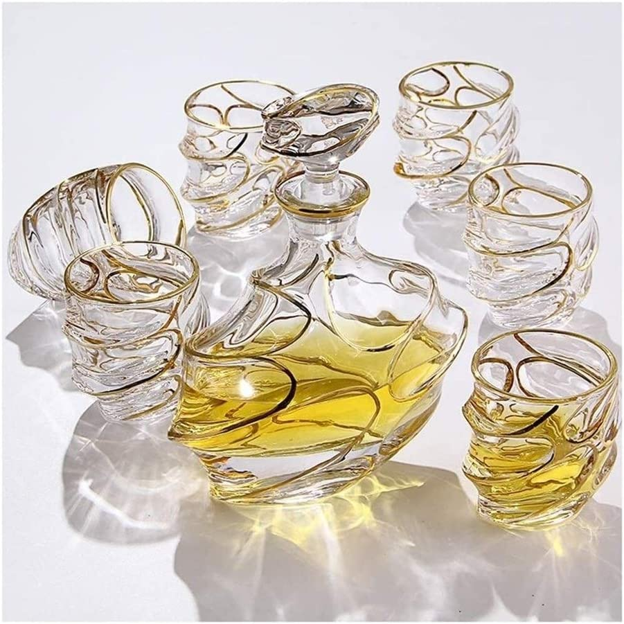 beautiful Kansas City Mall Whiskey Decanter Whisky OFFicial mail order Glasses Decant 7-Piece