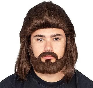 Halloween Costume Accessory Deluxe Dark Wig and Beard Set