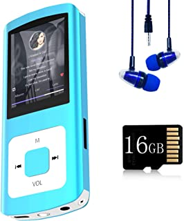 MP3 Player / MP4 Player, Hotechs MP3 Music Player with 16GB Memory SD Card Slim Classic Digital LCD 1.82'' Screen Mini USB...