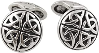 Celtic Trinity Knot Triquetra Men's Cuff Links - Sterling...