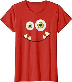 Monster Face Halloween T Shirt Costume Idea Scary Cute
