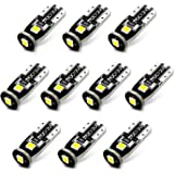 10Pcs White Replacement Socket 194 T10 168 2825 W5W 175 158 Bulb 5050 5SMD LED Light