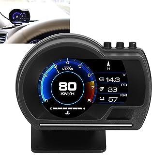 RBSD Medidor HUD, tela HD com suporte giratório para automóvel