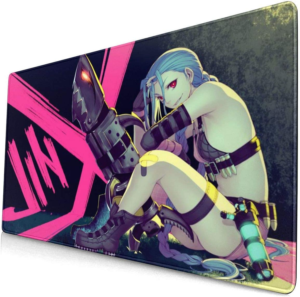 Large Mouse Pad New Free Shipping for Jinx OFFer with Mat Stitched No Gaming Edges