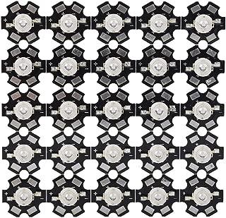 25 Pcs LED Chips, 3W High Power LED Lamp Beads Emitter Diode Chips for DIY Lighting Fixtures(Royal Blue)