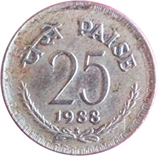 Very Old Indian 1988 Year 25 Paise Coin