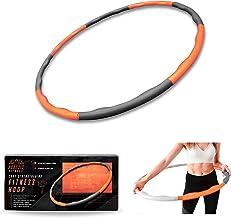Phoenix Fitness RY1008 Hoelabanden voor gewichtsvermindering, fitnessbanden met schuimrubberen gewichten, hoelahoep-bande...