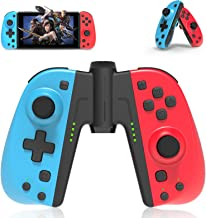 Joycon Replacement for Nintendo Switch, PowerLead Wireless Controller for Switch L/R Joy Pad with Grip Connector, Wake up,...