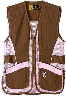 Browning Junior for Her Trapper Creek Shooting Vest-Brown/Pink