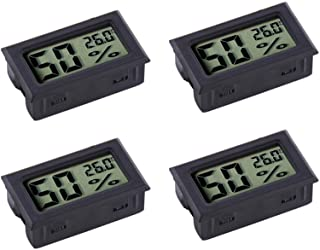 Veanic 4-pack Mini Digital Electronic Temperature Humidity Meters Gauge Indoor Thermometer Hygrometer LCD Display for Humi...