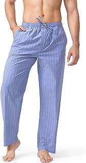 DAVID ARCHY Men's Cotton Pajama Pants Ultra Soft Sleep Bottom with Fly PJ Lounge Wear