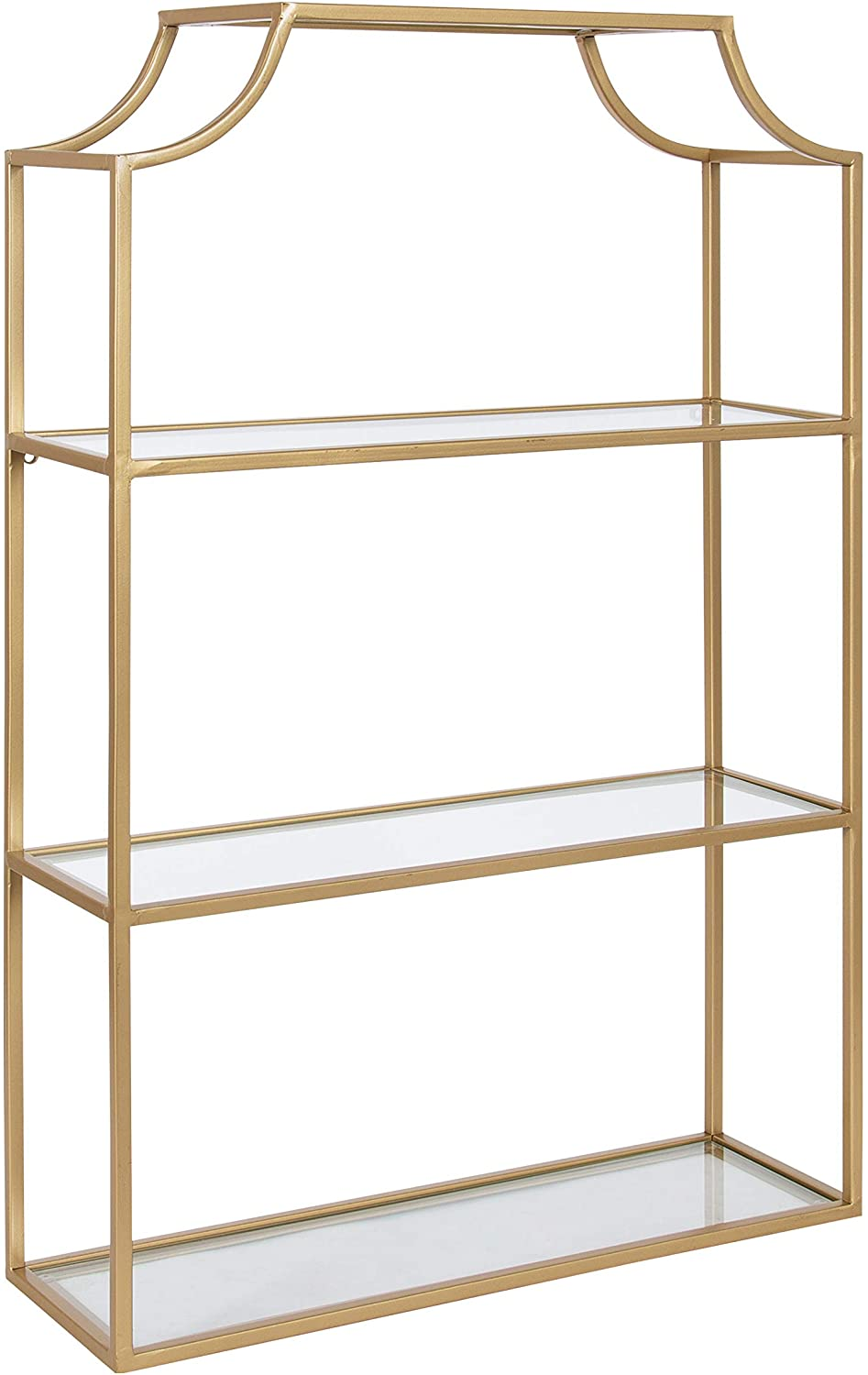 Kate and Laurel Today's only Ciel Glam 3-Tier Spring new work one after another Scalloped Wall 30 Shelf 20 x