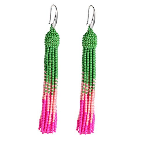 Womens Pink And Green Earrings Amazoncom