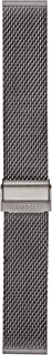 Fossil 22mm Stainless Steel Watch Band, Color: Gunmetal Grey (Model: S221441)