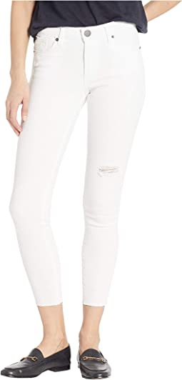 Emma Mid-Rise Skinny in Optic White