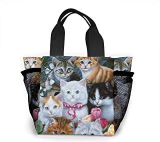 Vbcdgfg Tote Lunch Bag,Taylor Swift Cat Print Large Cooler Bag Container Thermal Cooler Pack Picnic Bag for Women&Men Travel Office Beach