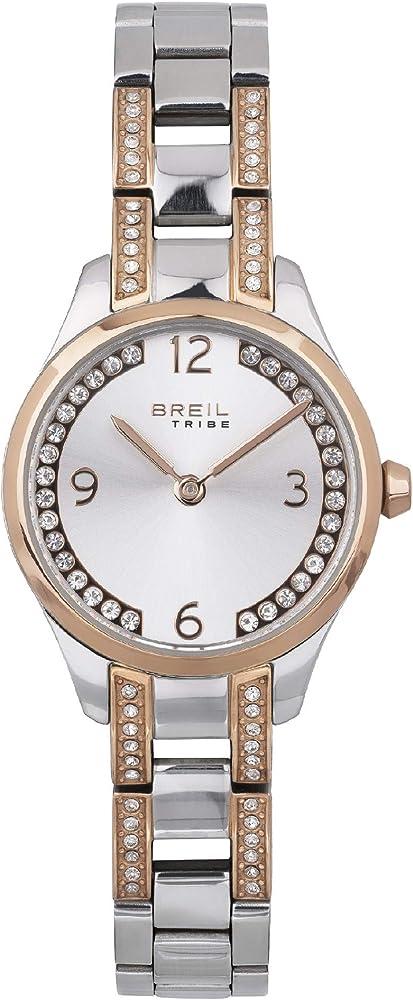 Breil orologio per donna in acciaio bicolore arricchito da cristalli che ne decorano il quadrante EW0476