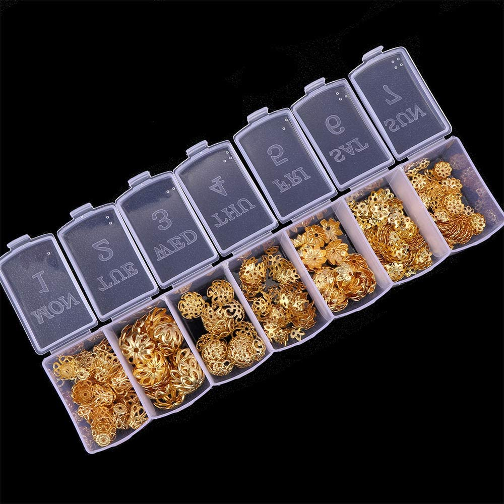 Ranking TOP6 NX Garden 350pcs Gold Challenge the lowest price Jewelry Bead Kit Assorted End Caps