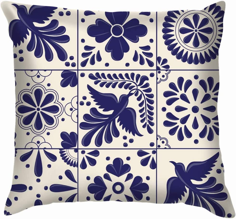 Amazon Com Designer Throw Pillows Covers 22 X 22 Inch Mexican Traditional Talavera Style Tiles Puebla The Arts Valentines Day Ocean Throw Pillow Ultra Soft For Bench Babies Living Room Unisex Children Chair Home