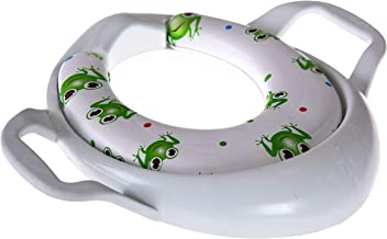 Bosphorus Toilet Seat Adapter With Handle Child Soft Frog Pattern