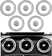 1797 Mercedes Benz Accessories Interior Decorations Inner Air Vent Condition Front Cover W205 C GLC Class X253 C253 Parts Modification Metal Crystal Rhinestone Silver Man Women Cool Popular 15pcs