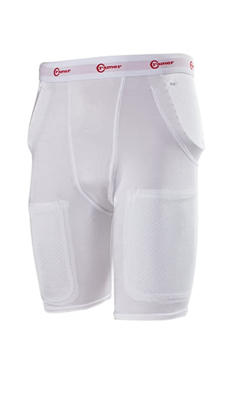 Cramer Classic 3-Pad/2-Pocket Football Girdle With Hip & Tailbone Pads, Football Pads, Football Equipment, Adult & Youth Football Gear, Football Protective Gear, Football Thigh Pads, Assorted Sizes