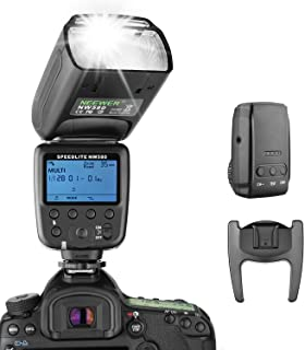 Neewer ワイヤレスフラッシュスピードライト Canon、Nikon、Sony、Panasonic、Olympus、Fujifilmおよび他の標準ホットシュー付きのDSLRカメラに対応 LCDディスプレイ、2.4Gワイヤレスシステム、15チャンネルトランスミッター付き(NW580)