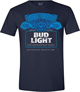Beer Gear Bud Light Label Short Sleeve T-Shirt